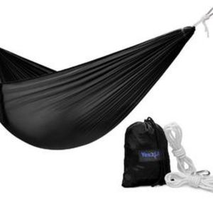 SINGLE LIGHTWEIGHT CAMPING HAMMOCK WITH CARRY BAG
